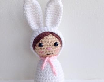 Crochet Amigurumi Bunny Rabbit Girl Doll