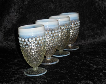 opalescent by anchor hocking water goblets
