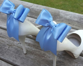 Wedding Shoe Clips, MANY COLORS AVAILABLE, Bridal Shoe Clips, Shoe Clips for Wedding Shoes, Satin Shoe Clips, Bow Shoe Clips, ShoeClipsOnly