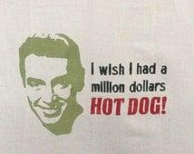 Jimmy Stewart Its A Wonderful Life Flour Sack Dish Towel