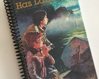 A UFO has Landed Book Journal Book  Notebook Recycled Spiral Bound Storybook Weekly Reader