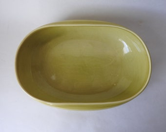 Russel Wright Steubenville Chartreuse Serving Bowl