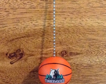 Minnesota Timberwolves Plastic Basketball, Handmade Ceiling Fan Pull  Chain, Birthday gift, Father's Day gift, NBA