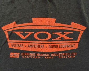 vintage VOX AMPLIFIER shirt - 1980's - Size Medium/ Large