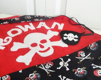 Adult Personalized Pirate Cape and Eye Patch