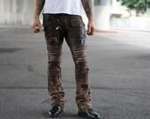 Brown Leather Enduro Pants
