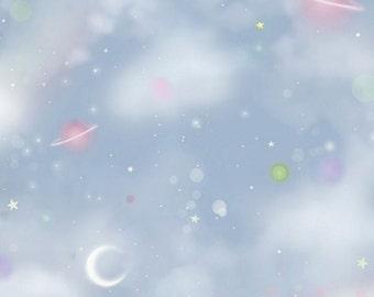 Quilting Treasures - SANTORO'S GORJUSS - Rainbow Dream Light Dusty Blue Space