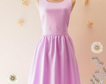 SALE USD20 - Size S- Lavender Dress Lilac Dress Bridesmaid Dress Party Dress Purple Summer Dress Wedding Bridal Shower Dress -Size S