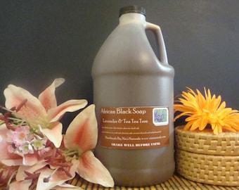 Lavender & Tea Tree African Liquid Black Soap - 1/2 Gallon Jug