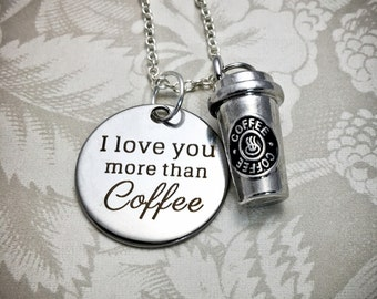 Coffee-lover Necklace, Coffee Pendant, Starbucks-lover, Coffee Charms, Starbucks Charms, Starbucks Necklace, Coffee Friends, I love Coffee