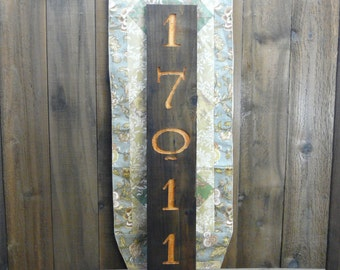 Rustic Weathered Wood Address Number Sign - Front Porch Rustic Country Home Hearth Western Style Carved Engraved Barn Wood Decor