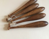 Set of vintage lace bobbins / sewing bobbin