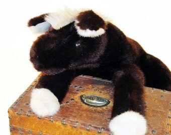 Vintage 1968 Louis Vuitton Plush Toy Horse