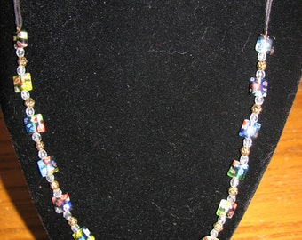 Lampwork  and glass bead necklace