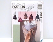 Drawstring Bag / Scarf Shawl McCalls 9661 Sewing Pattern 1990s Never Used Victorian Pouch Purse Gypsy Evening Mini Micro Bags Boho Stash Bag