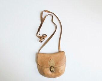 vintage mini leather crossbody bag