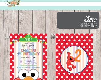 Printable Elmo Birthday Invite