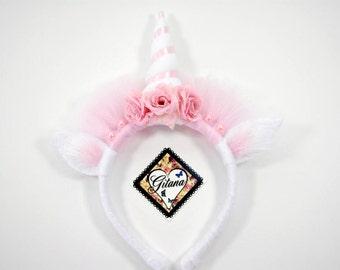 Princess Crown Unicorn- Princess Crown- Unicorn Headband- Pony Headband-Girl Headband-Pink-Girl Accessories-Girl hair Accessories-Photo Prop