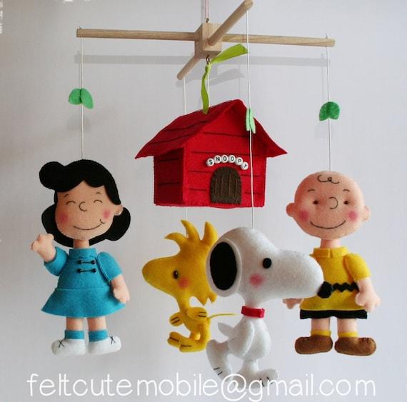 Snoopy Mobile Charlie Brown Mobile Baby Crib Mobile Nursery