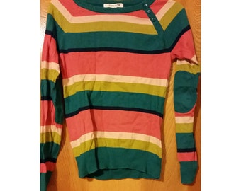 SALE Colorblock Sweater Pullover Top - Size Small (2 for 15 dollars deal)