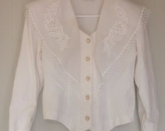 Vintage white blouse by Sophisticate