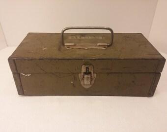 PARPLUS Small Vintage Tool Box - 1950s Mid Century Industrial