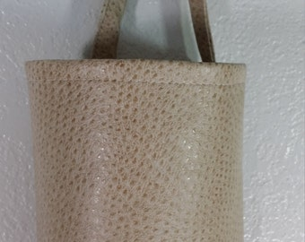 Plastic Bag Holder, Grocery bag holder, plastic bag dispenser, bags organizer- Cream Faux Leather