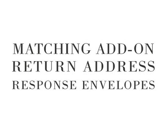 Matching Add-On Return Address for Response Envelopes - Printable Do-It-Yourself
