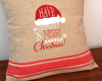 Merry Little Christmas Pillow Cover 12x12