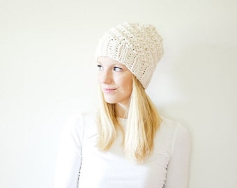 SUMMER SALE chunky knit hat womens slouchy hat beanie - fisherman - the ICARD