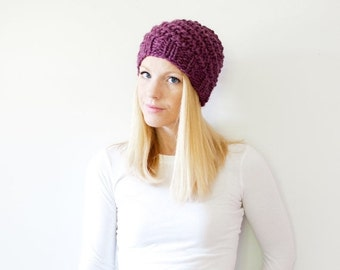 SUMMER SALE the ICARD hat - chunky knit hat womens slouchy hat beanie - fig