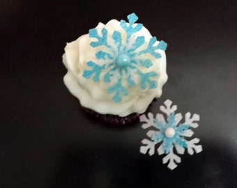 12 Assorted Edible Snowflakes