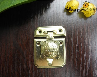 35*44 mm golden Color Box latch,hasp latch,small jewelry box latch making wood box tortoise latch A019