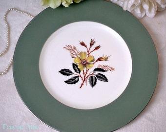 "Wedgewood China ""Greenwood"" Dinner Plate, English Bone China Dinner Plate, Replacement China,  ca. 1960"