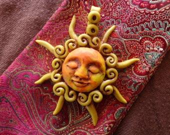 Litha Sun Pendant. Winter Solstice. Yule. Summer Solstice. Litha