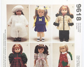 "UNCUT McCall's Crafts 9618 18"" Doll Clothes Sewing Pattern"