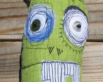 Linus, the zombie handmade art monster doll
