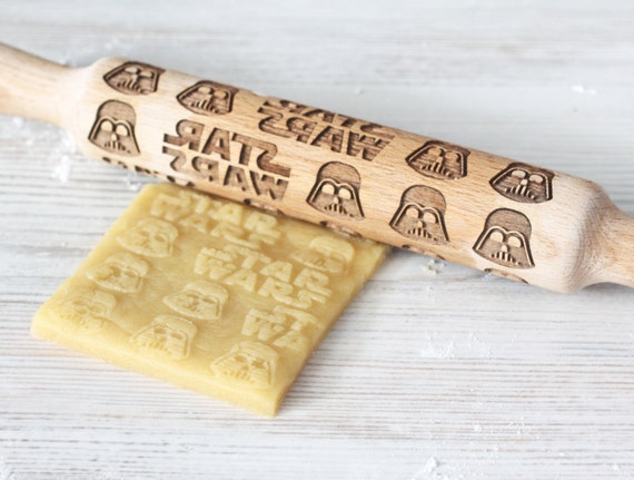 Star Wars Engraved rolling-pin - Darth Vader pattern - Embossed Rolling Pin