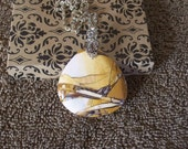 Jasper Pendant Necklace, Handmade