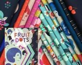 Fruit Dots - Fat Quarter Bundle of 17 Cotton prints - Melody Miller for Cotton + Steel - FRUITDOTS-FQ