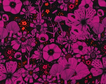 Cat Lady - Purrfect Hiding Spot in Purple - RAYON - 2031-25 - Sarah Watts for Cotton + Steel - 1/2 yard