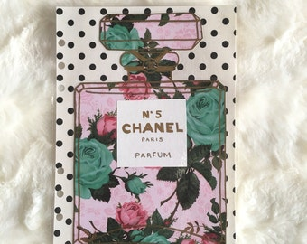 Reserved Listing for LAUREN1881 | Floral Polka Dot Chanel Bottle Dashboard | Filofax Stationary
