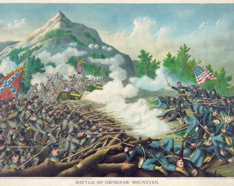 Images of America: The Civil War - The Battle of Kenesaw Mountain, Ga. 1864- Fine Art Print Reproduction