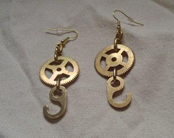 Gear & Hook Earrings