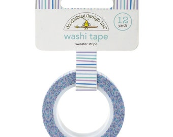Sweater Stripe Washi Tape, 15mm x 12 yards by Doodlebug Designs