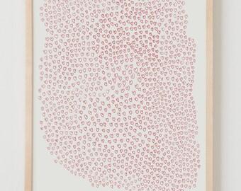 Fine Art Print. Hearts. October 13, 2014.