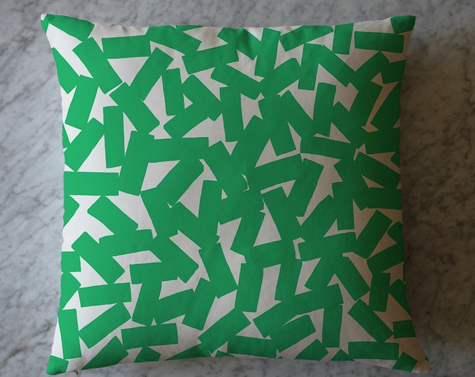 Pillow with Green Rectangles.  March 2, 2016