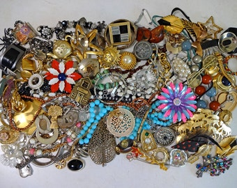 3.5lb Destash Vintage Jewelry Lot