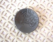Gray Star Ring Holder - Boho Trinket Dish - Jewelry Storage - Handmade Ring Dish - Bohemian Star Pattern - Boho Decor - Bohemian Style
