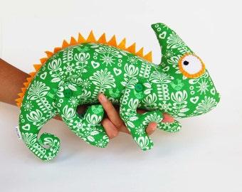 Plush toy chameleon - lizard - iguana - stuffed toy - stuffed chameleon - soft toy iguana - gift for her - gift for kids - Ethnic - Ethno